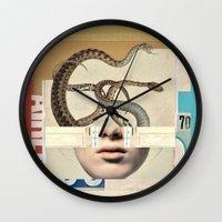 medusa Wall Clocks featuring medusa by Robert Alan