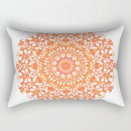 Mandala 12 / 5 eden spirit orange Rectangular Pillow