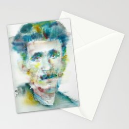 GEORGE ORWELL - watercolor portrait.1 Stationery Cards