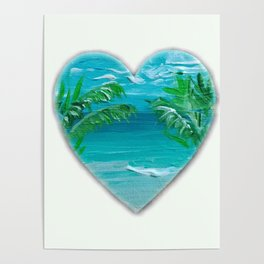 Florida, beach with palms~Ocean Love Poster