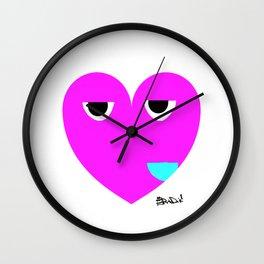 funny heart Wall Clock