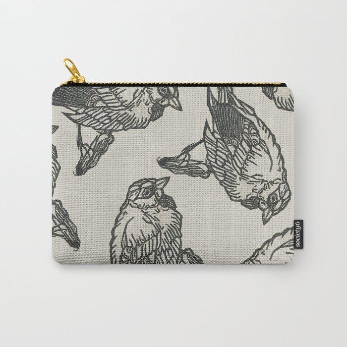 Bird Print Carry-All Pouch