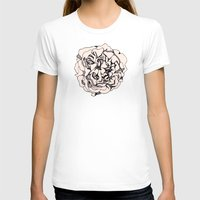 damask T-shirts featuring Damask Rose by Katie Acheson Wolford
