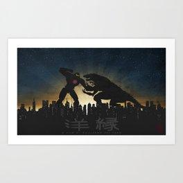 Kaiju Warriors - Pacific Rim Art Print