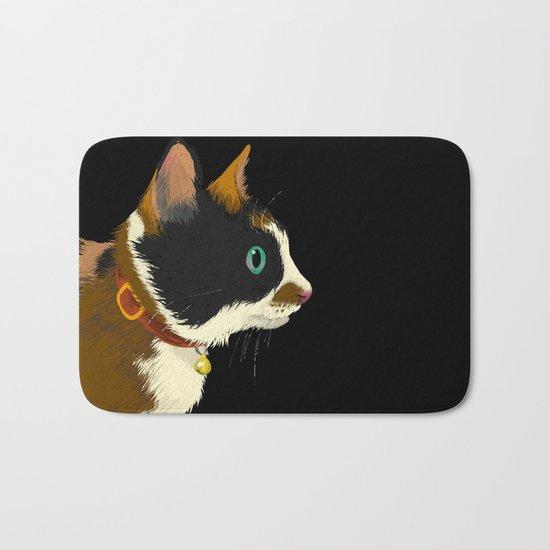 My cat in the dark Bath Mat