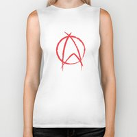 anarchy Biker Tanks featuring Federation Anarchy by The Cracked Dispensary