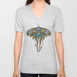 Botanical Butterfly No. 1 Unisex V-Neck