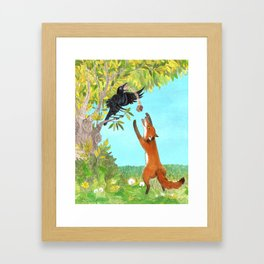 The Fox and the Crow Framed Art Print