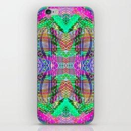 Green Fuchsia Kaleidoscope iPhone Skin