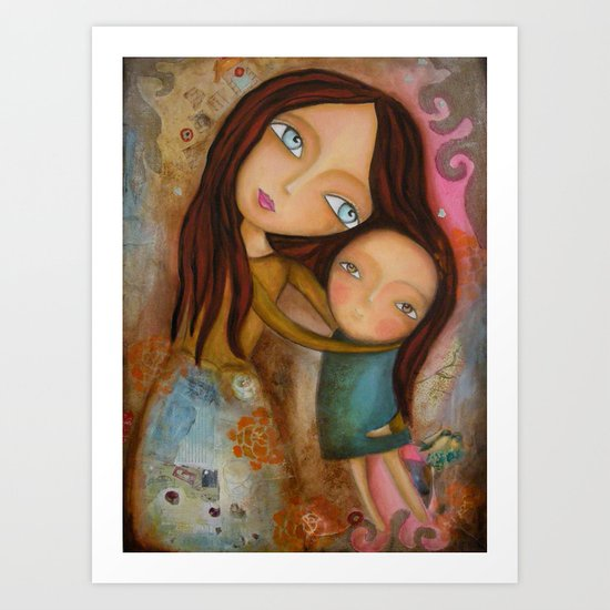 Embrace of a Mother Art Print