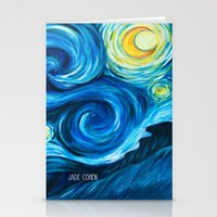 starry night Stationery Cards featuring Starry Starry Night by Jade Cohen