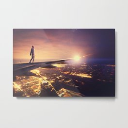 I Dream About Falling Down.  Metal Print