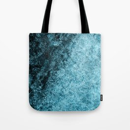 Frost Blue Ice Tote Bag