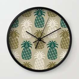 Retro Mid Century Modern Pineapple Pattern 87 Wall Clock