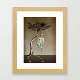 the truth is dying · humanity Framed Art Print