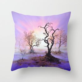 Dioxazine Dawn Throw Pillow