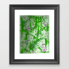 Greening Framed Art Print