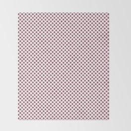 Rose Wine Polka Dots Throw Blanket