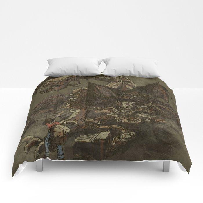 Junkyard Dragon  Comforters