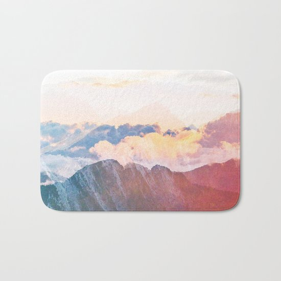 Mountain Glory #society6 #decor #buyart Bath Mat