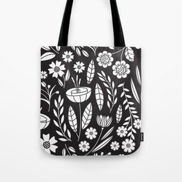 Blooming Field - black Tote Bag