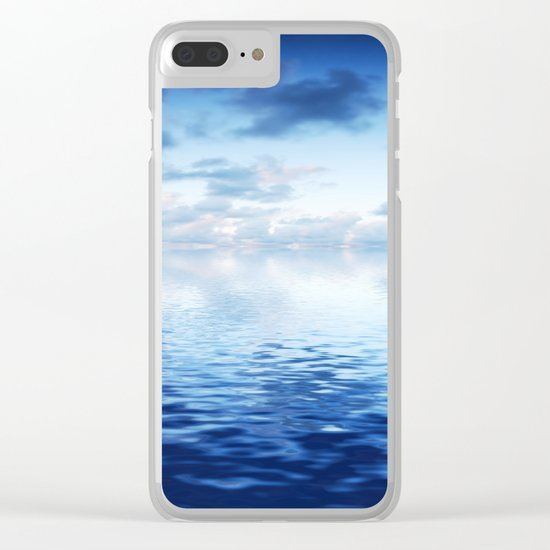 Blue ocean #reflection Clear iPhone Case