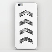 cyrilliart iPhone & iPod Skins featuring Liam's Chevrons by Cyrilliart