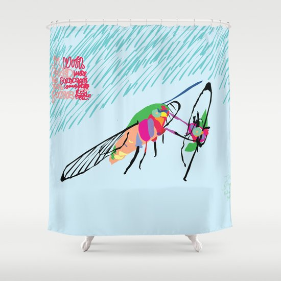 Bringing what I got [MOTH] [COLORS] [RAIN] [GIVEN] [GIVE] Shower Curtain