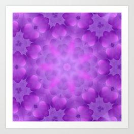 purple cloud star Art Print