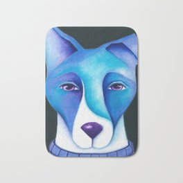 Blue Dog original artwork by Deb Harvey Bath Mat