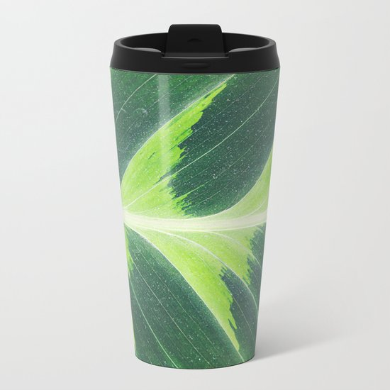 Leaf green Metal Travel Mug