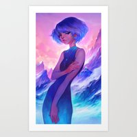 loish Art Prints featuring frost by loish