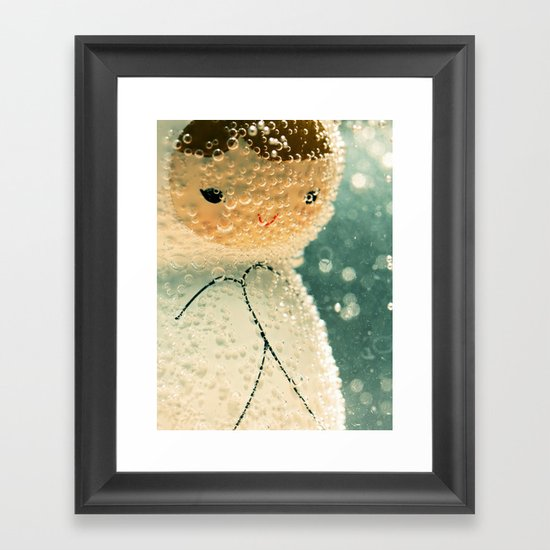 Snuggle bubble Framed Art Print