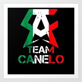 Team-Canelo Mexico Alvarez - Mexico flag Aguila Art Print