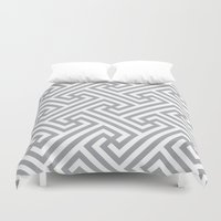 labyrinth Duvet Covers featuring Labyrinth. by Massimiliano Frattini