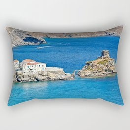 Chora is the capital of Andros, Greece Rectangular Pillow