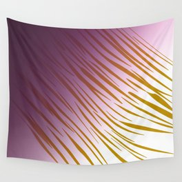 wild lines pink with gold Wall Tapestry