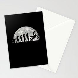 Motocross Evolution Moon Dirt Bike Motorbike Stationery Cards