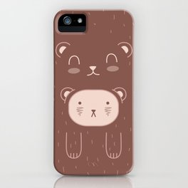 WILD + BEAR print iPhone Case
