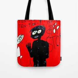 PANIC - red Tote Bag