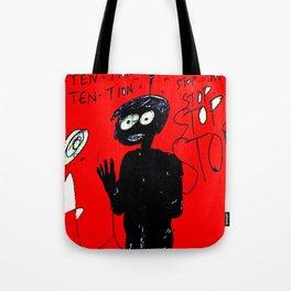 PANIC - red Tote Bag
