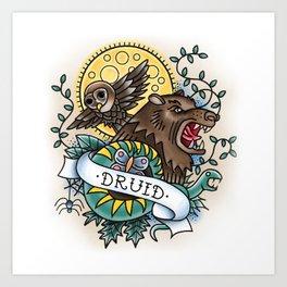 Druid - Vintage D&D Tattoo Art Print