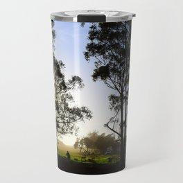sunset trees Travel Mug