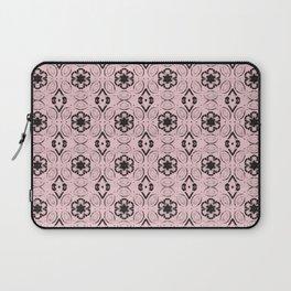 Blushing Bride Floral Geometric Pattern Laptop Sleeve