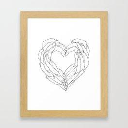 Finger Heart Framed Art Print