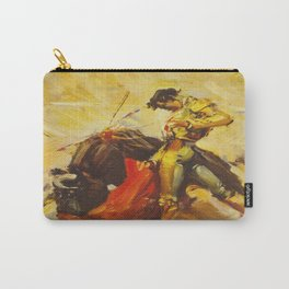 Vintage Mexico Bullfighting Travel Carry-All Pouch