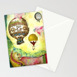 Flying Ballons Stationery Cards