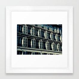 Parisian windows Framed Art Print