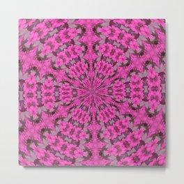 Pink Daisy Kaleidoscope Metal Print