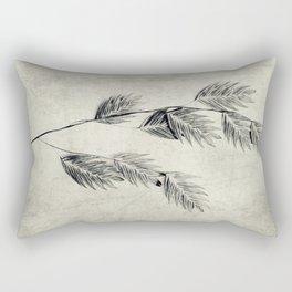 textured oat grass Rectangular Pillow